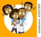 vector illustration of happy... | Shutterstock .eps vector #619927859