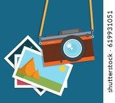 retro  vintage camera  flat...   Shutterstock .eps vector #619931051