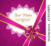 greeting card template with... | Shutterstock .eps vector #619934891