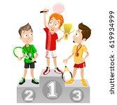 vector illustration of tennis... | Shutterstock .eps vector #619934999