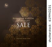 ramadan design background. come ... | Shutterstock .eps vector #619943231