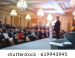 speaker at business conference. ... | Shutterstock . vector #619943945