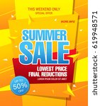 summer sale template banner | Shutterstock .eps vector #619948571