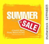 summer sale template banner | Shutterstock .eps vector #619948805