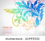 floral background | Shutterstock .eps vector #61995532