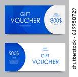 gift company voucher template... | Shutterstock .eps vector #619958729