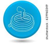garden hose  vector icon.   Shutterstock .eps vector #619960349