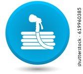garden hose  vector icon.   Shutterstock .eps vector #619960385