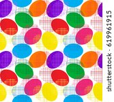 pattern.easter eggs abstract ... | Shutterstock . vector #619961915