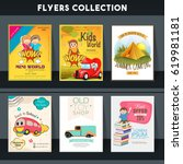 set of six different flyers of... | Shutterstock .eps vector #619981181