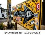 Tagged Graffiti Arrow Sign