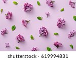 floral pattern on the purple... | Shutterstock . vector #619994831