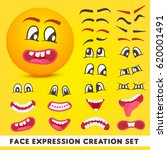 face expression creation set... | Shutterstock .eps vector #620001491