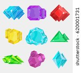 jewelry colorful gemstone icon... | Shutterstock .eps vector #620001731