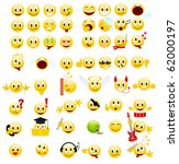 large set of cool smiles.... | Shutterstock . vector #62000197