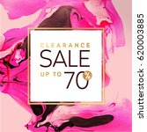 clearance sale square pink and... | Shutterstock .eps vector #620003885
