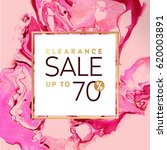 clearance sale square pink and... | Shutterstock .eps vector #620003891