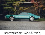 classic american car parked | Shutterstock . vector #620007455