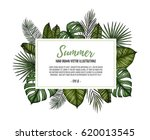 summer tropical exotic template.... | Shutterstock .eps vector #620013545