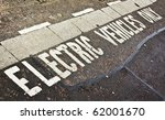 parking space only for electric ... | Shutterstock . vector #62001670