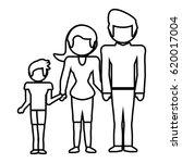 family together lovely outline   Shutterstock .eps vector #620017004
