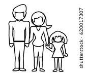 family together lovely outline | Shutterstock .eps vector #620017307
