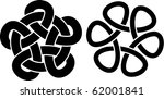 two knots   Shutterstock .eps vector #62001841