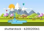 beautiful vector spring...   Shutterstock .eps vector #620020061
