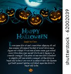 halloween illustration with... | Shutterstock .eps vector #62002039