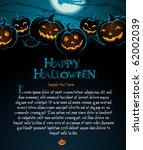halloween illustration with... | Shutterstock .eps vector #62002039