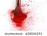 makeup brush background with... | Shutterstock . vector #620034251