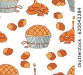 hand drawn seamless pattern... | Shutterstock .eps vector #620042384