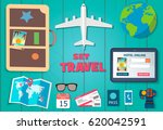 a set of travel. to the world....   Shutterstock .eps vector #620042591