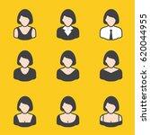 set of different avatars female ...   Shutterstock .eps vector #620044955