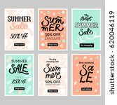 set of summer mobile sale... | Shutterstock .eps vector #620046119