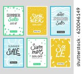 set of summer mobile sale... | Shutterstock .eps vector #620046149