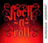 rock music print  hipster... | Shutterstock .eps vector #620054507