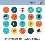 knight concept flat icons.  | Shutterstock .eps vector #620055827