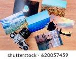 top view of essentials of a... | Shutterstock . vector #620057459