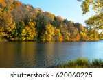 Small photo of Enchanted Autumn Lake at Lackawannna State Park in Pennsylvania