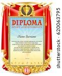sport diploma template. first... | Shutterstock .eps vector #620063795