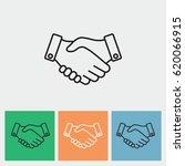 line icon    handshake | Shutterstock .eps vector #620066915