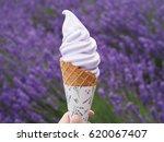 ice cream lavender | Shutterstock . vector #620067407