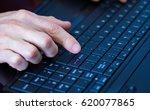 index finger hovering over the... | Shutterstock . vector #620077865