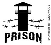 Prison Tower Vector Black....