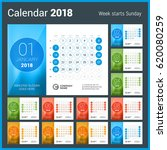 Desk Calendar For 2018 Year....