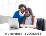 a mother and teenage daughter... | Shutterstock . vector #620083055