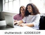 a mother and teenage daughter... | Shutterstock . vector #620083109