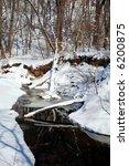 minnehaha creek in winter   Shutterstock . vector #6200875