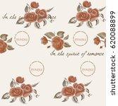 watercolor rose background   Shutterstock . vector #620088899